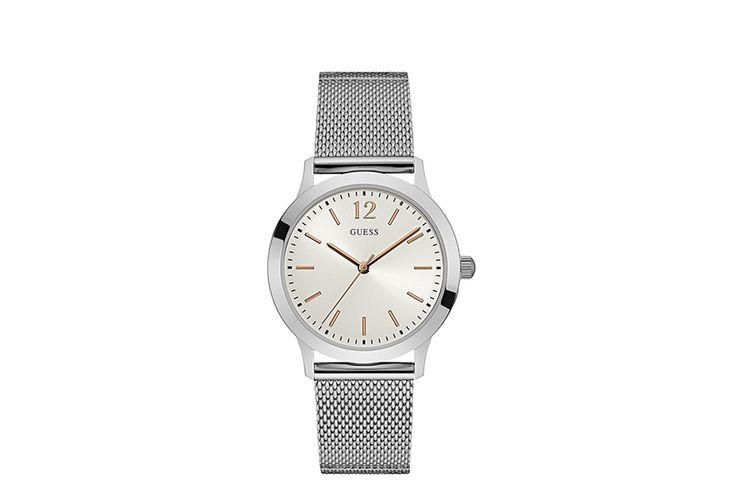 Zilveren herenhorloge van Guess (model: W0921G1)