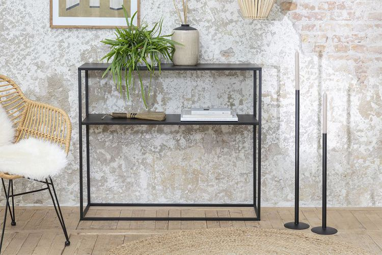 Korting Zwarte wandtafel (100 x 85 x 30 cm)