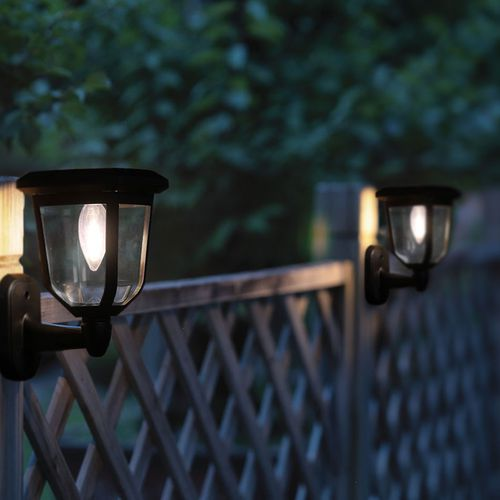 3 tuinwandlampen