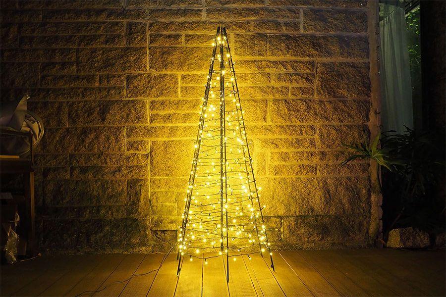 Led 3d-kerstboom voor buiten en binnen (300 lampjes)