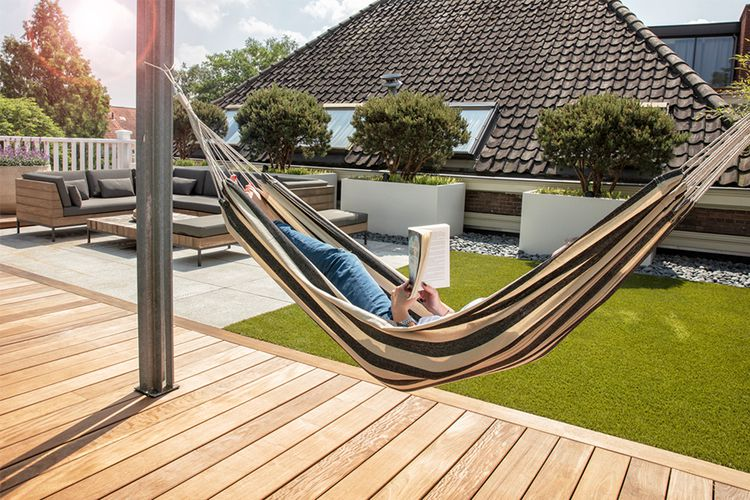 hamac blanc un hamac pour profiter de l t 200 x 100 cm vavabid participez aux ench res. Black Bedroom Furniture Sets. Home Design Ideas