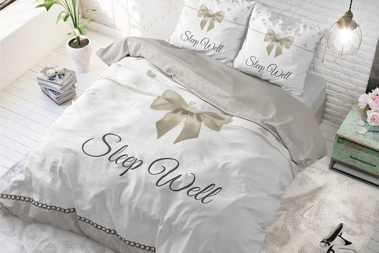 Sleep Well Housse Couette Taupe 200 Housse De Couette 100 Coton