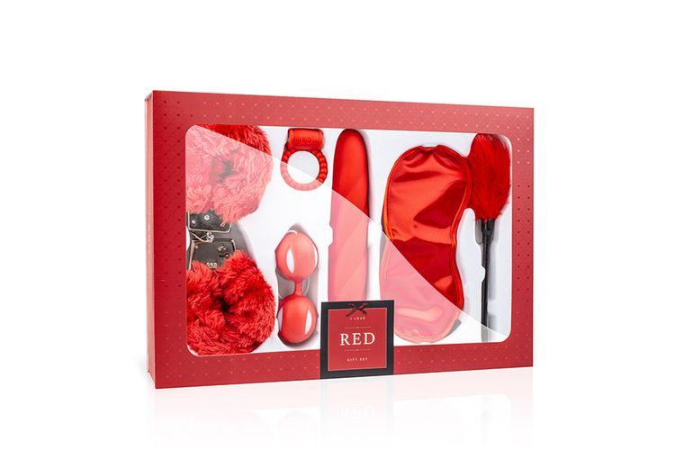Rode love-box met speeltjes voor koppels