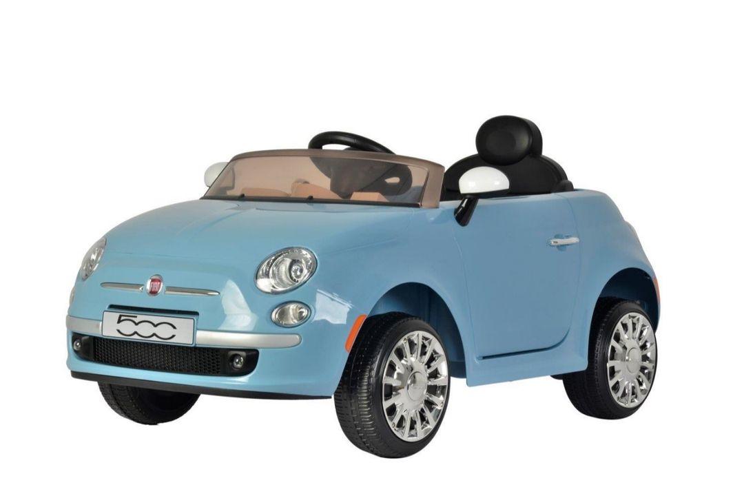 Elektrische Fiat 500 met afstandsbediening (lichtblauw)