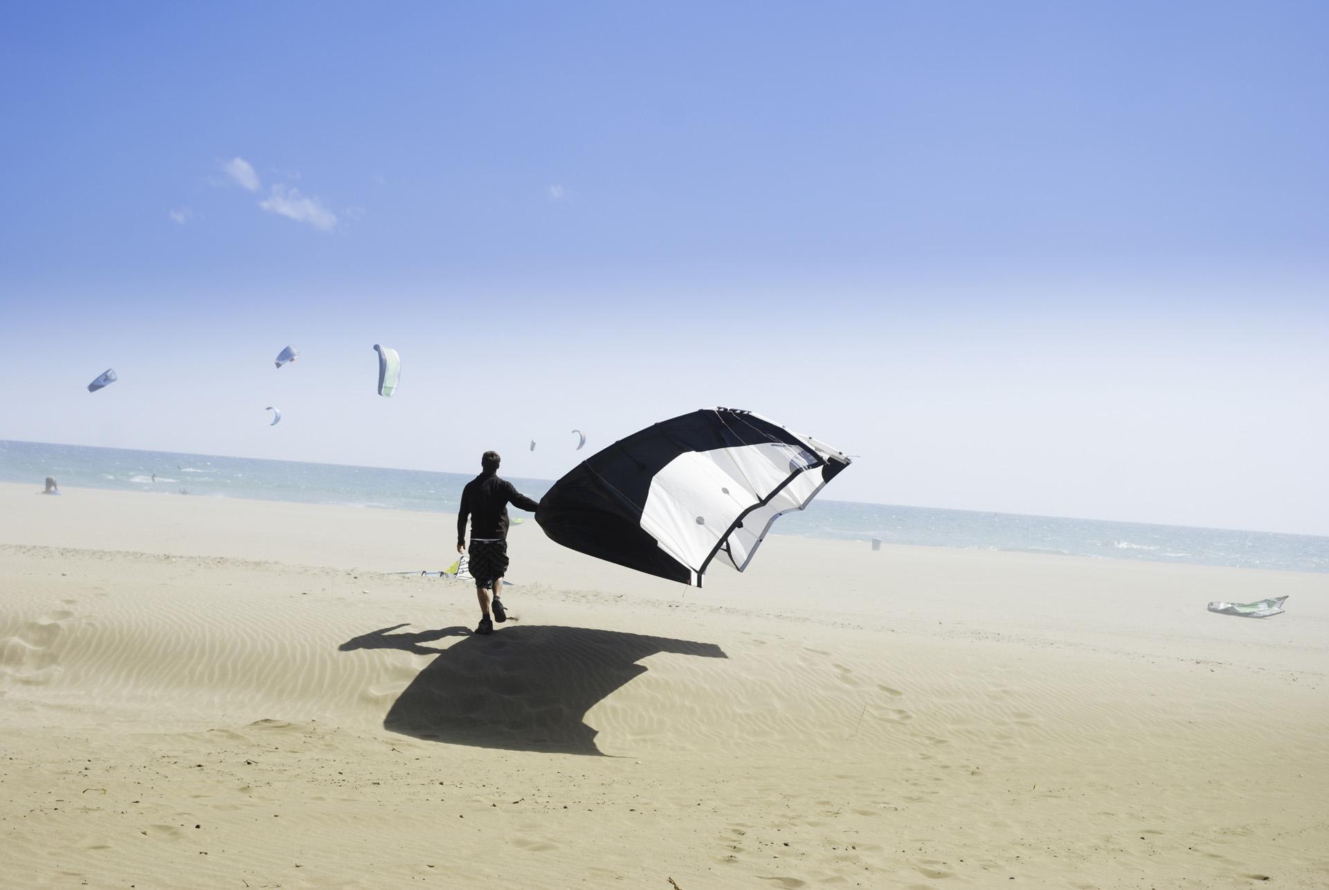 Watersport-kitesurfen