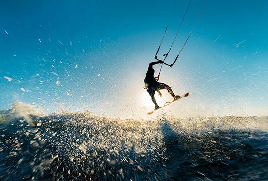 Tip voor watersporten: kitesurfen