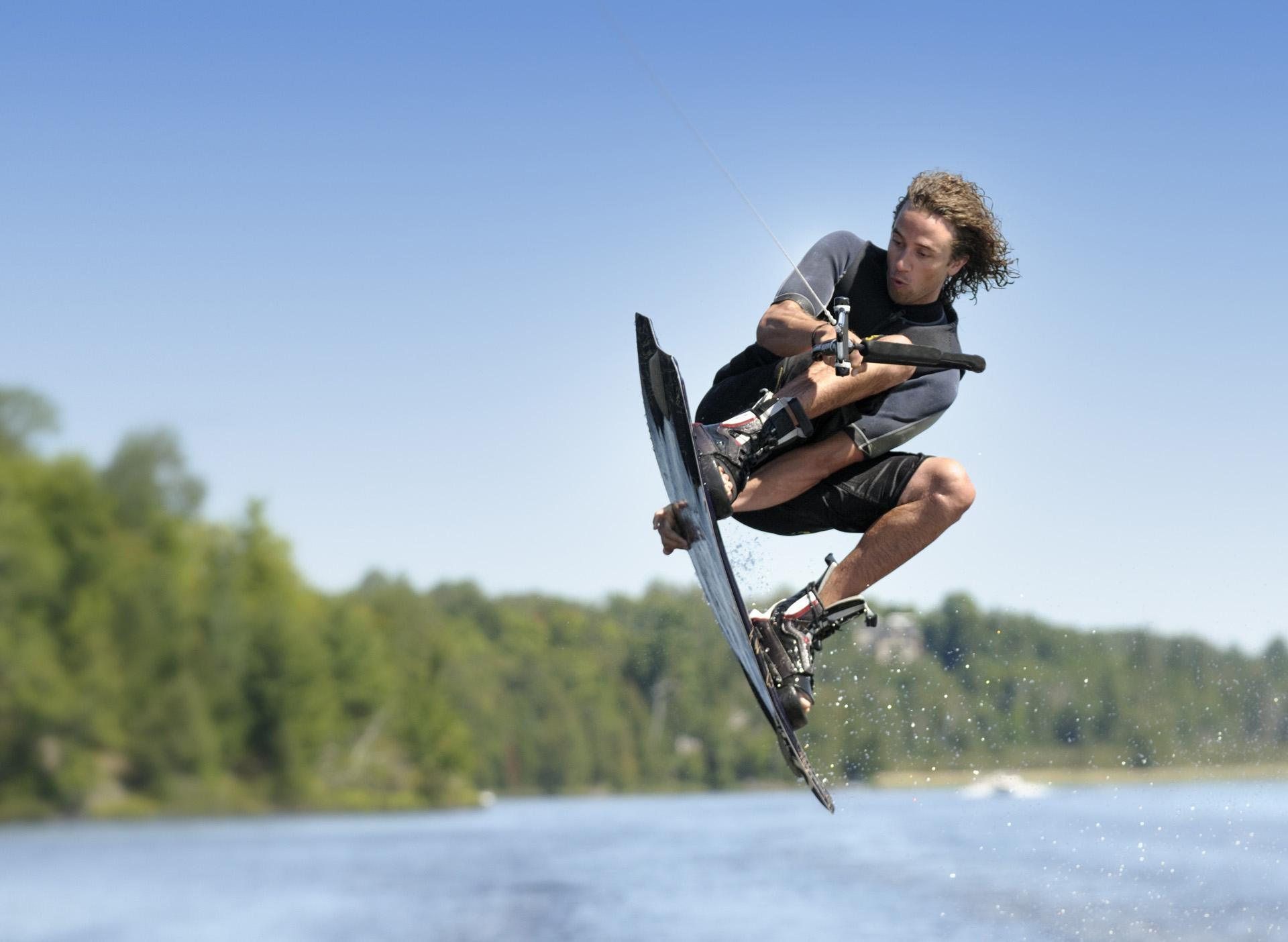 Watersport wakeboarden
