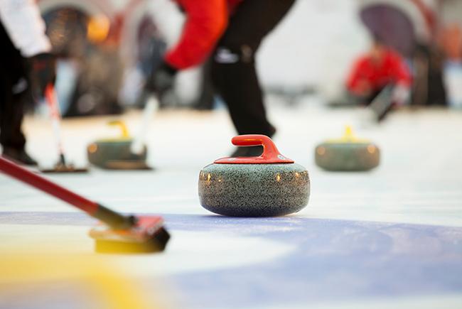 Winter fun: curling