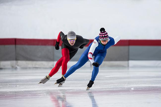 Winter fun: schaatsen