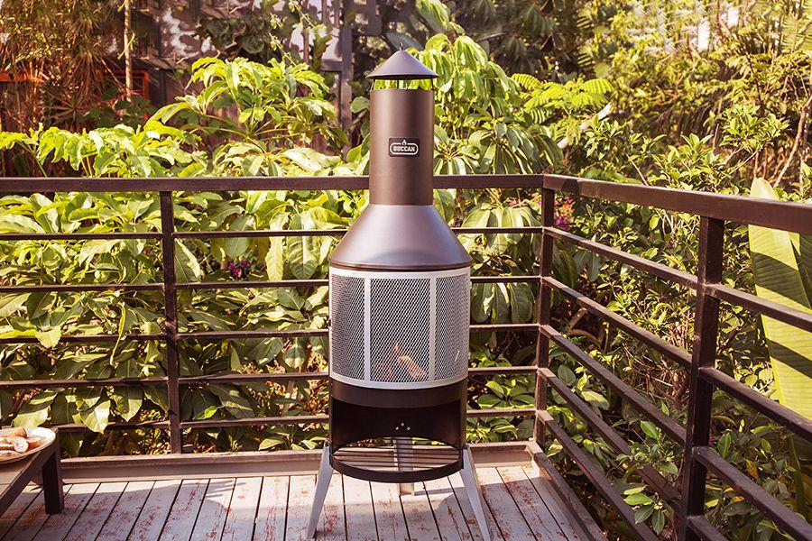 3-in-1 Buccan vuurhaard met grillrooster en koekenpan