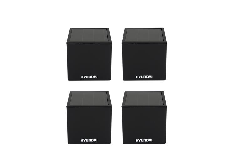 Korting 4 compacte kubus lampjes op solar van Hyundai (7 x 7 cm)